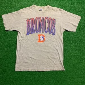 Vintage 90s Denver Broncos NFL Striped Shirt
